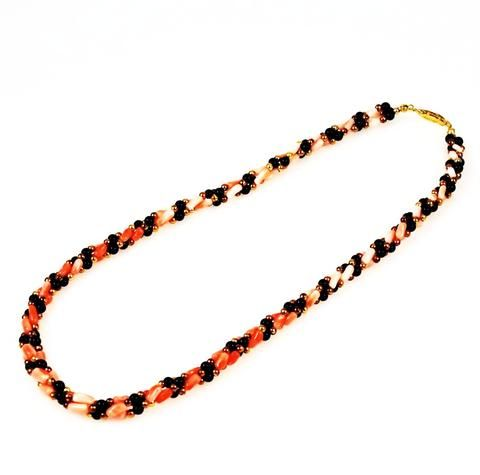 Onyx Twisted Necklace