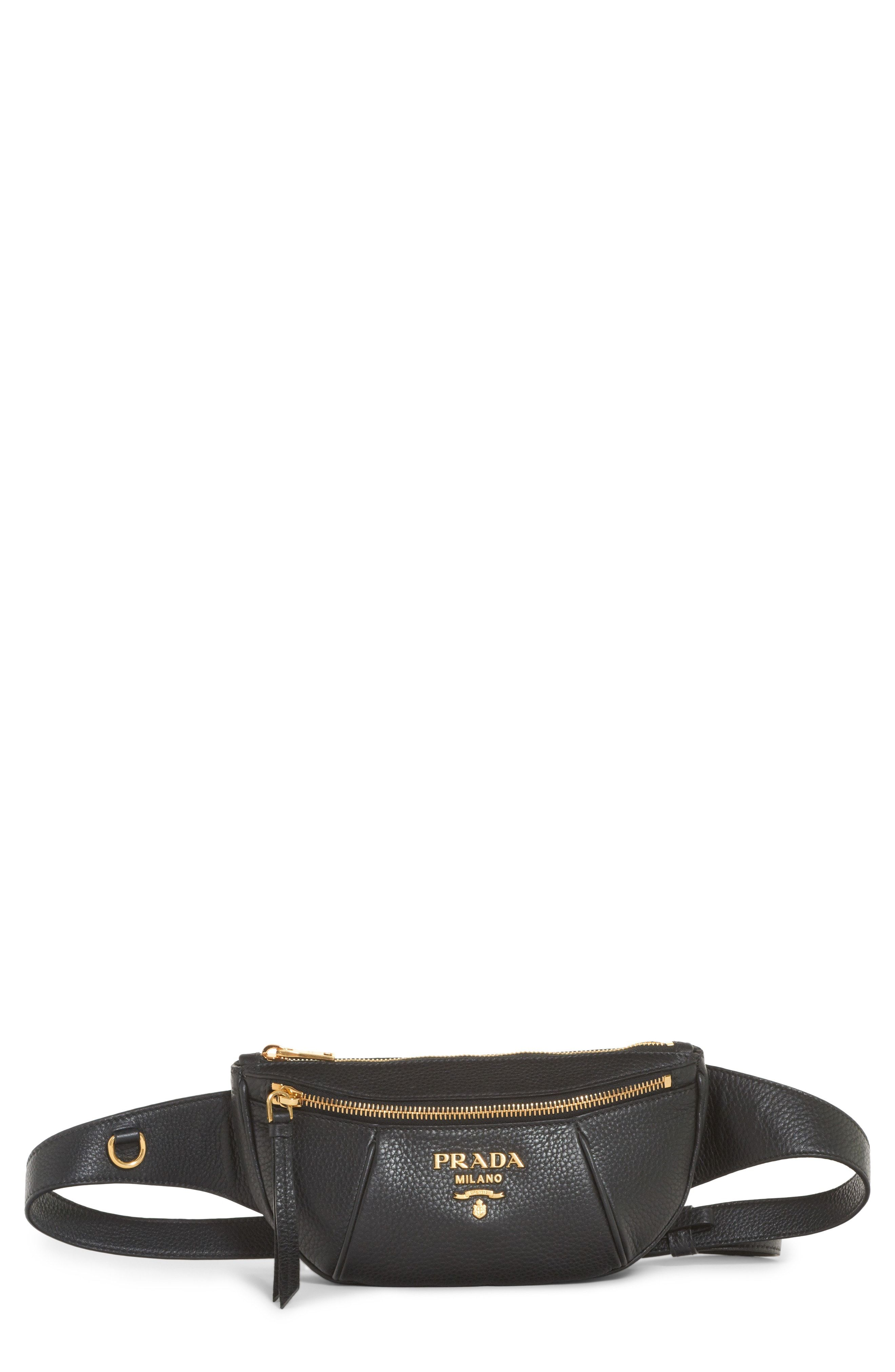 c41e2cde86a0 Prada Daino Leather Belt Bag available at  Nordstrom