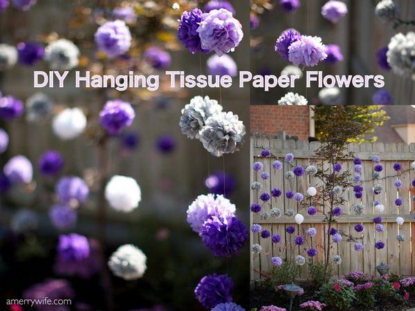 Best 25 Hanging Paper Flowers Ideas On Pinterest