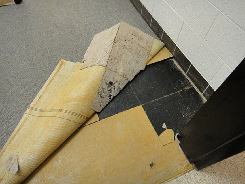 Removing asbestos containing floor tiles and mastic | Asbestos ...