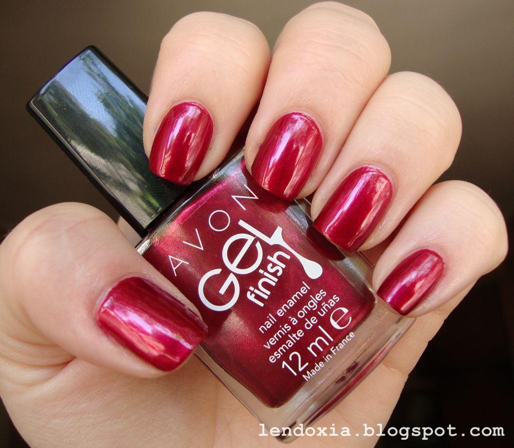 Avon Pink Nail Polish: Avon Red Velvet Red Nail Polish