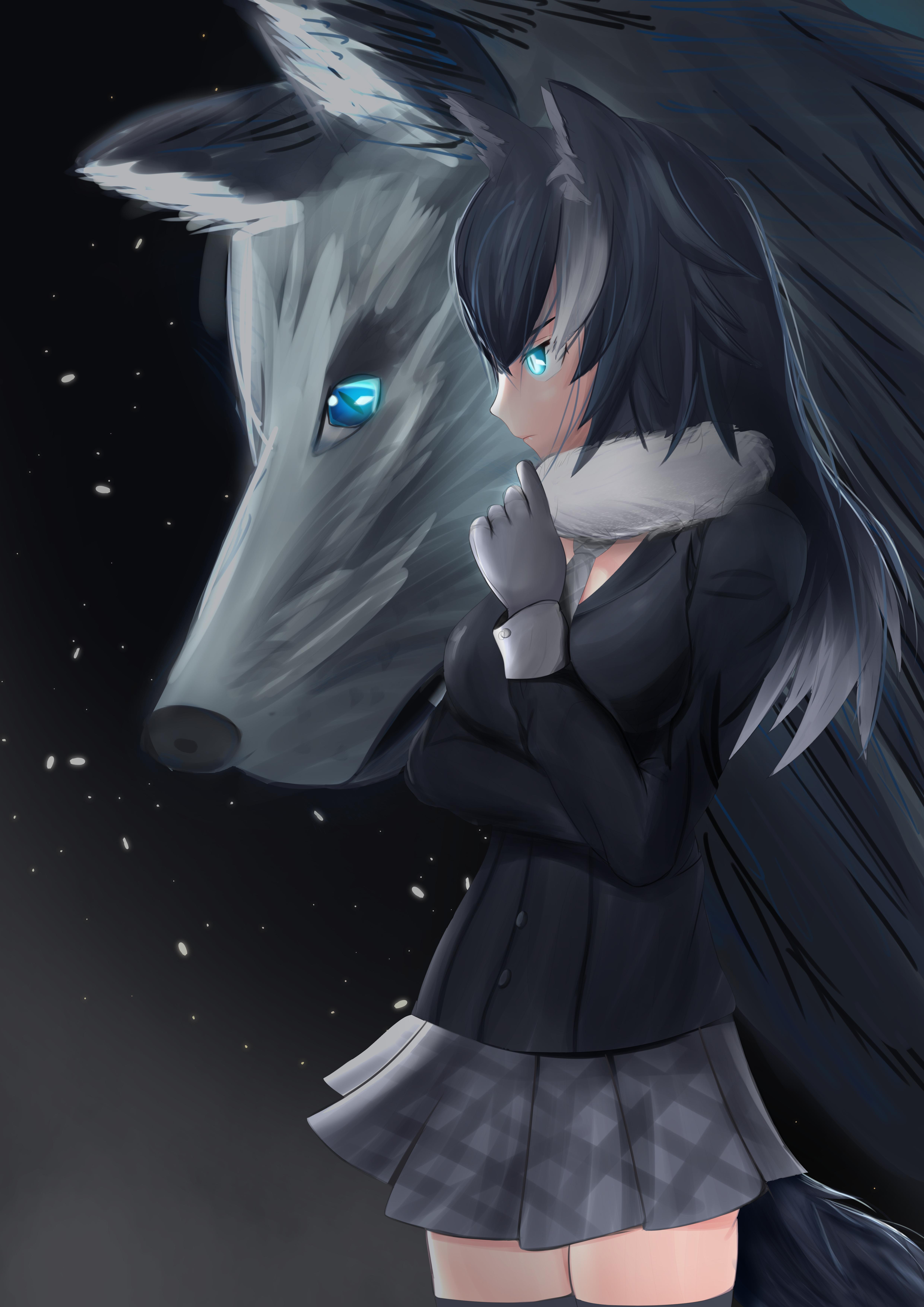 Greywolf Kemono Friend By Tor1940 On Deviantart Anime Wolf Girl Anime Furry Anime Neko