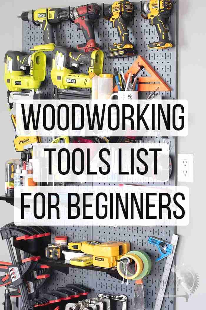 The complete list of tools for a beginner woodworking workshop #anikasdiylife