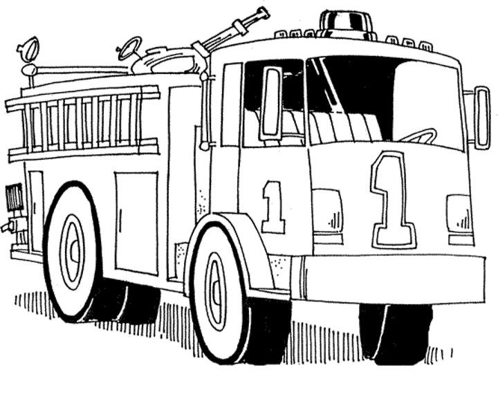 Fire Truck Coloring Pages Printable Truck Coloring Pages Fire