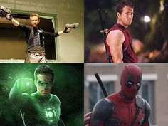 Ryan Reynolds Hannibal King Blade Trinity 2004 Wade Wilson X Men Origins Wolverine 2009 Green Lantern Ryan Reynolds Deadpool Ryan Reynolds Deadpool