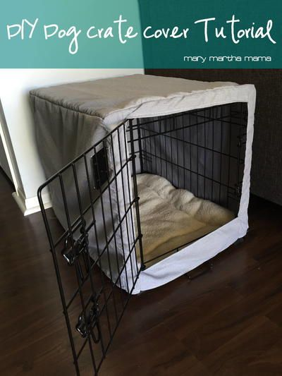 Easy DIY Dog Crate Cover