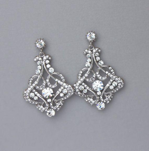 Bridal Chandelier Earrings,Wedding Statement Earrings,Long Wedding ...