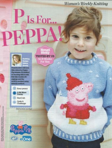 Child\'s peppa pig winter snow jumper dk knitting pattern | Pinterest ...