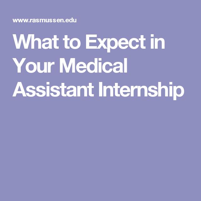 medical assistant internship