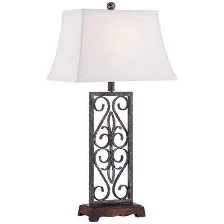 Ellis Wrought Iron Table Lamp 5p832 Lamps Plus Wrought Iron Table Iron Lamp Iron Table