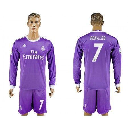 Real Madrid 16-17 Cristiano #Ronaldo 7 Bortatröja Långärmad,304,73KR,shirtshopservice@gmail.com