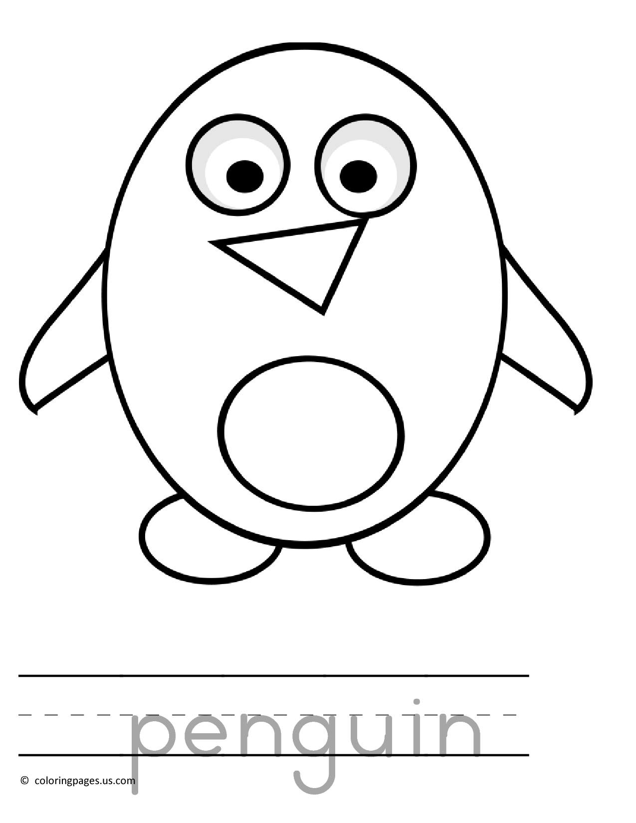 Penguin Coloring Page 534