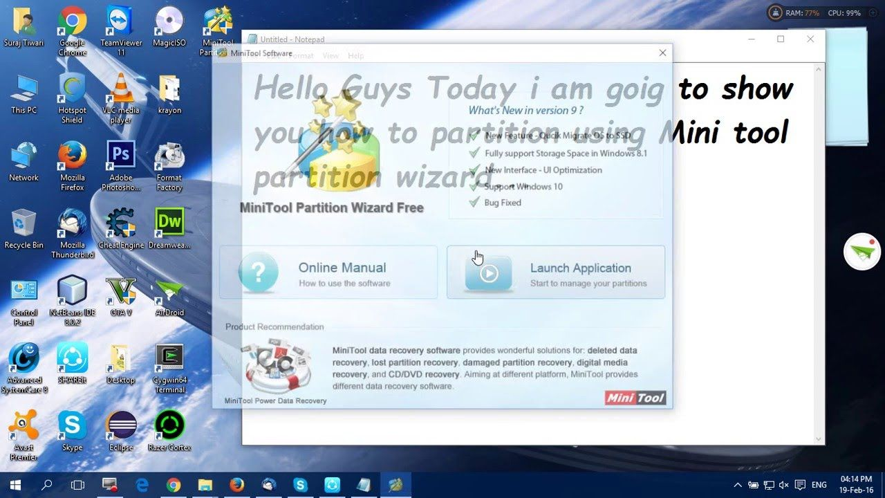 Problem in resizing partition ?? see this.. and