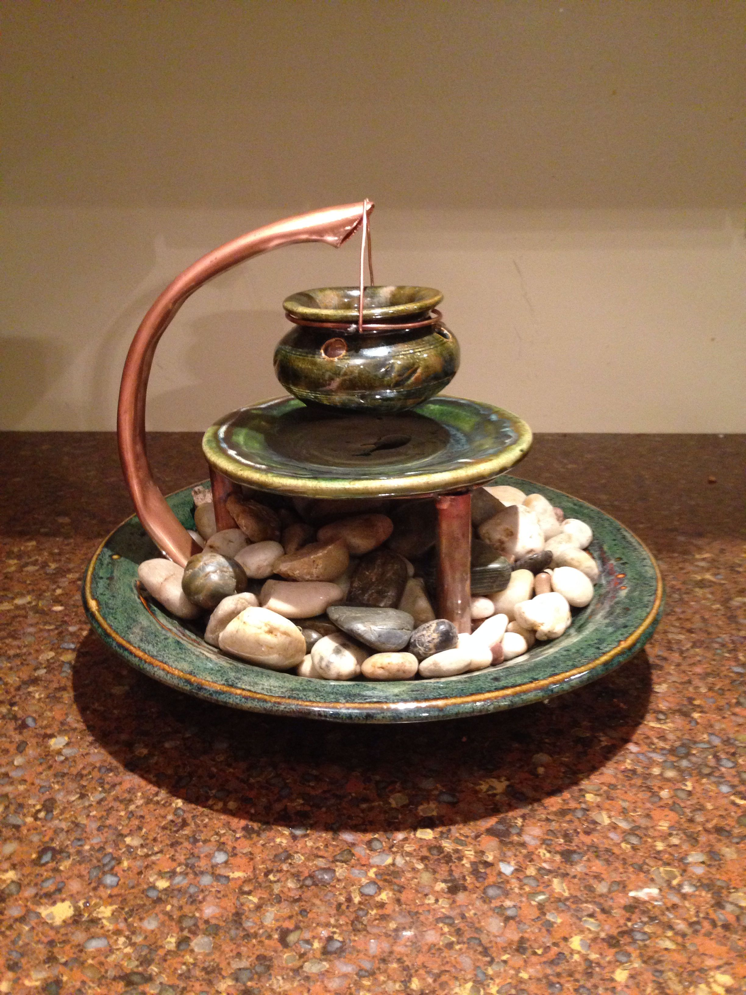 Tabletop Fountain With Copper Tabletop Fountains Pinterest