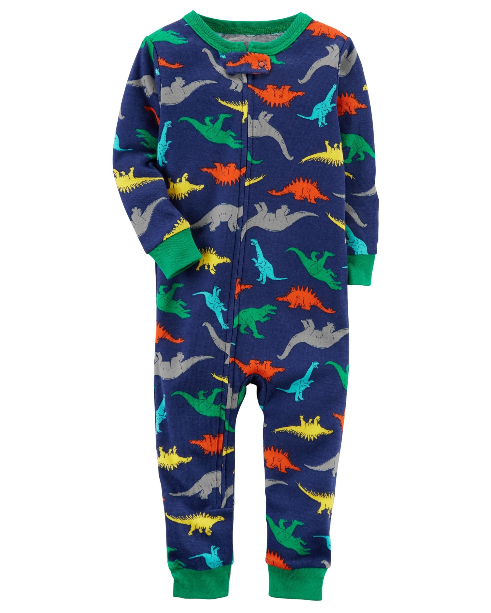 88b106c088ad Baby Boy 1-Piece Snug Fit Cotton Footless PJs