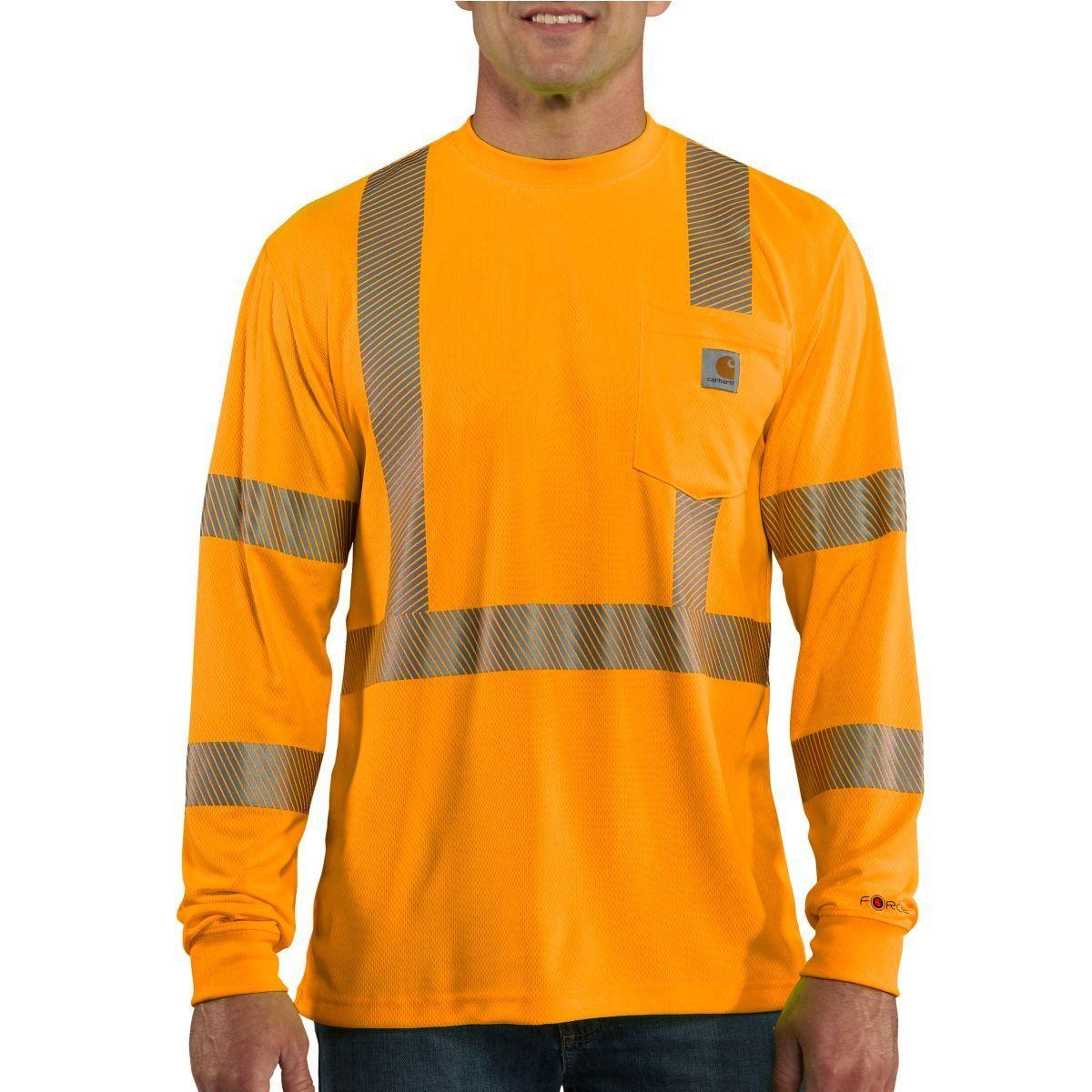 Carhartt mens brite orange high visibility force long