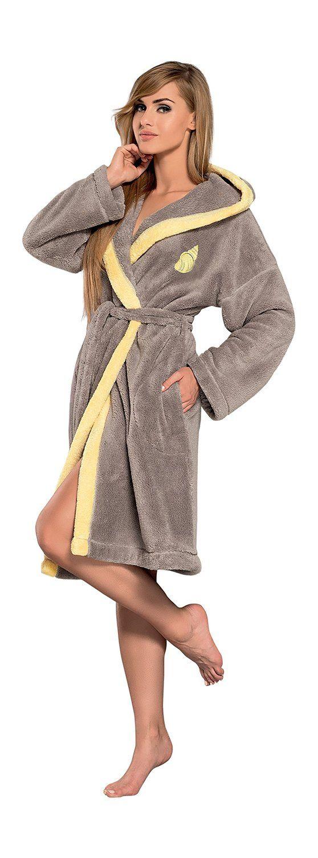 47c13fd6677 Femmes Chaud Tissu Eponge Luxe Robe de Chambre- Peignoir de Bain Pour  Mesdames  Amazon.fr  Vêtements et accessoires