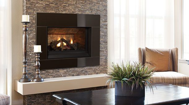 Traditional Fireplaces - contemporary - Living Room - Vancouver - Regency  Fireplace Products - Regency Panorama P33CE With Verona Glass Surround Decor