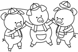 trzy świnki kolorowanki do wydruku dla żłobkowiczów do bajki ...