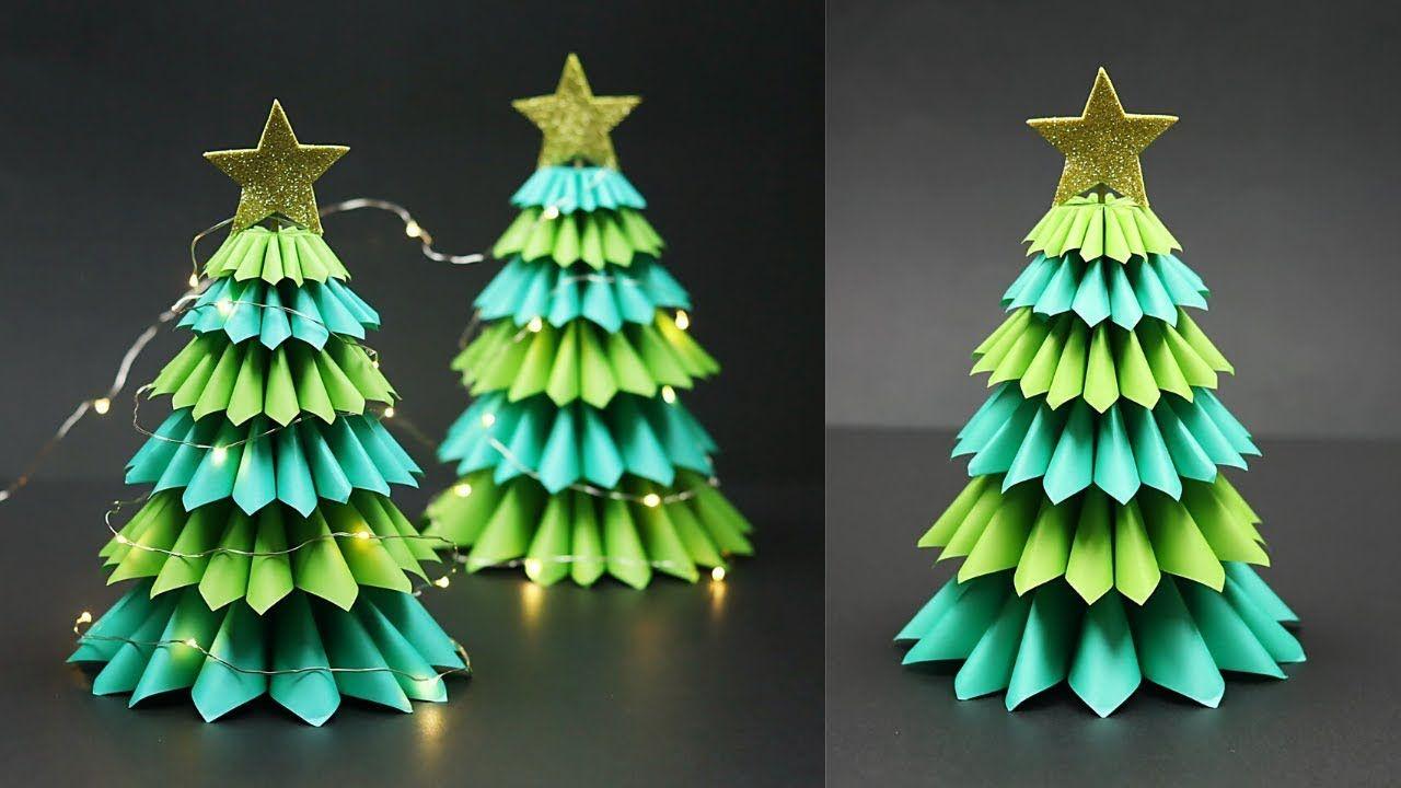 3d Tabletop Paper Christmas Tree Christmas Tree Decorating Ideas