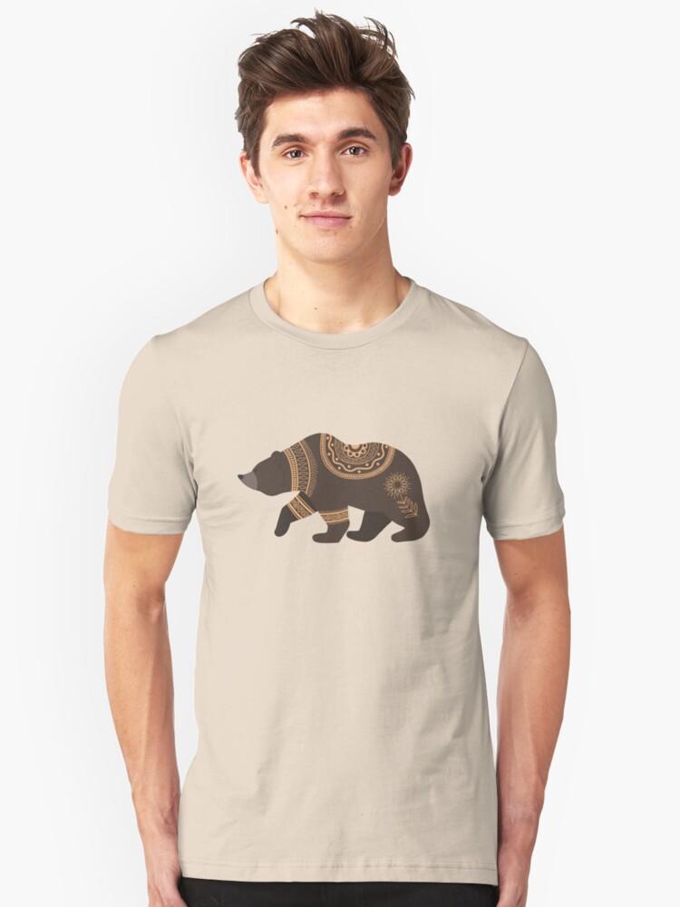 Scandinavian Folk Art Bear T Shirt By Space Kitten In 2020 Men Street Outfit Bear T Shirt Classic T Shirts