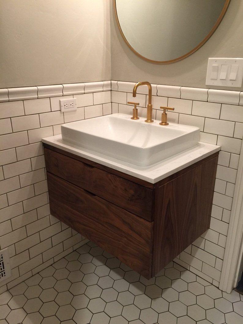 Walnut Bathroom Vanity Floating Bathroom Vanity Bathroom Vanity