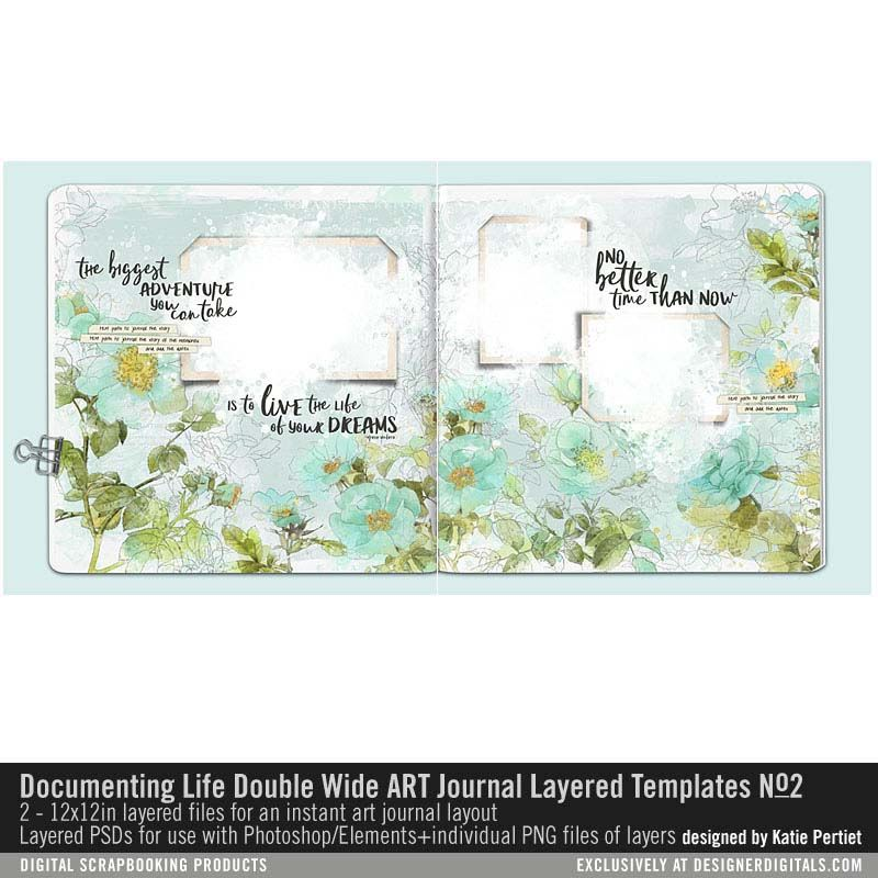Documenting Life Double Wide Art Journal Templates No 02 Artsy 2