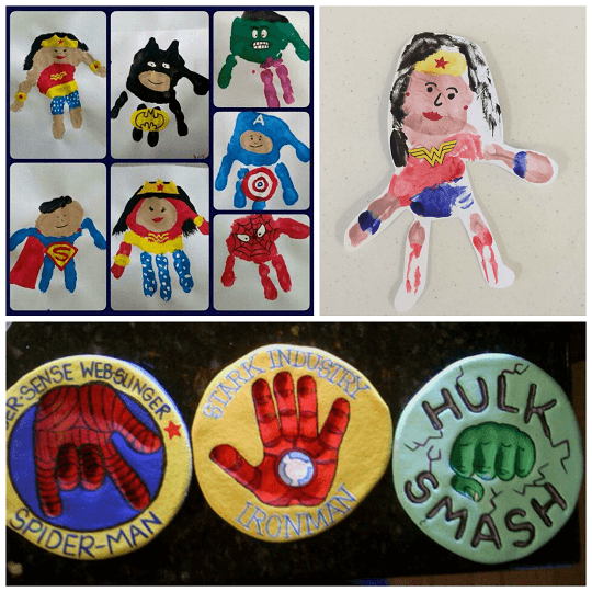 Awesome Superhero Handprint Crafts For Kids #superherocrafts
