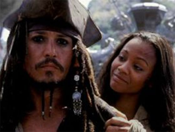 jack et anamaria | Pirates of the caribbean, Zoe saldana, Black pearl