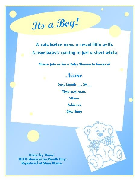 Download Now Free Template Baby Shower Invitations Wordings