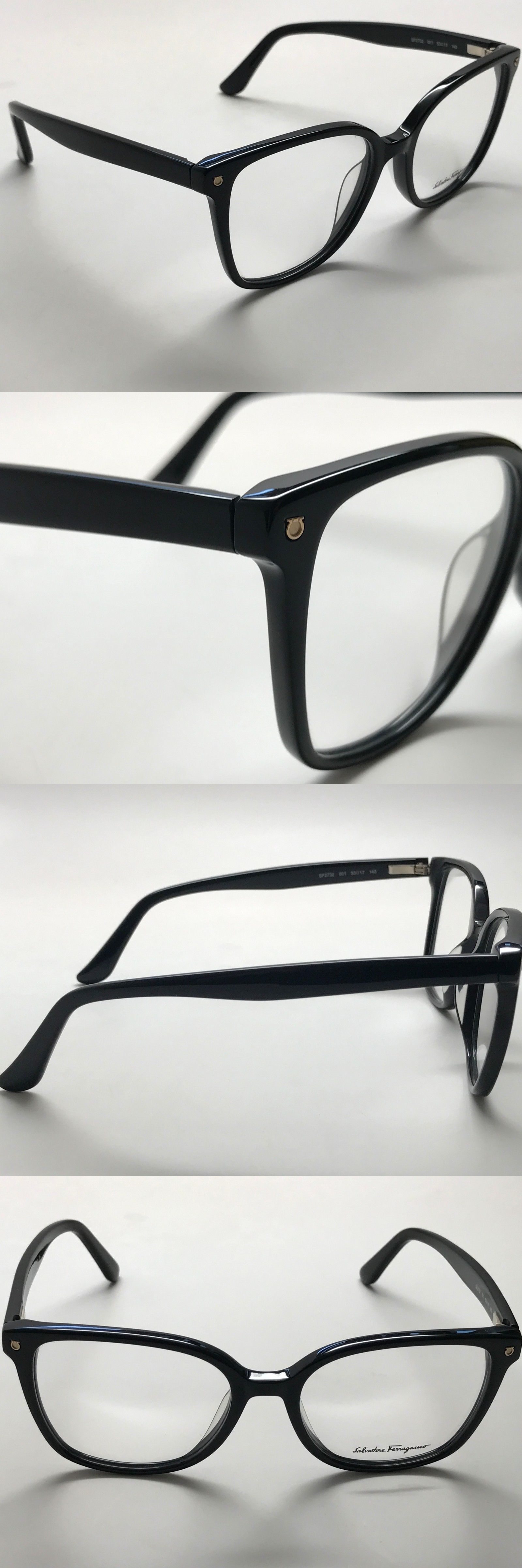 Fashion Eyewear Clear Glasses 179244: Salvatore Ferragamo Rx Black ...