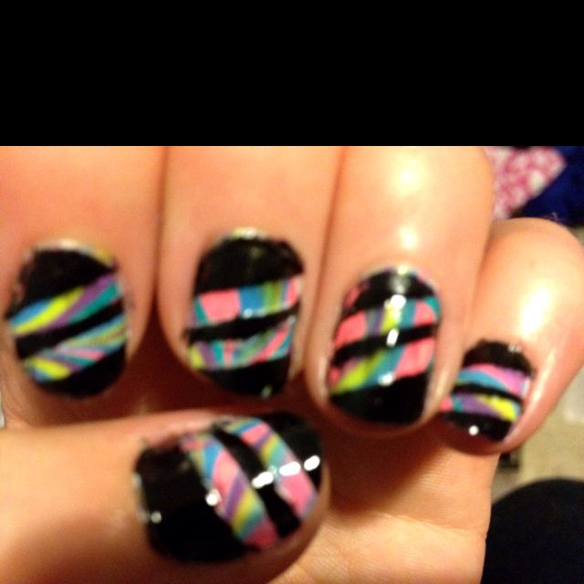 Step 3 Take Masking Tape Off Put Top Cost On And You Re Done Nails Nail Designs Manicure