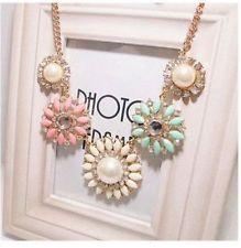 Unique Jewelry - Beauty Womens Chunky Statement Bib Pendant Chain Choker Necklace Charm Jewelry