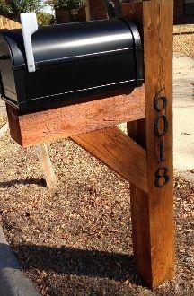 6 X6 Oversized Cedar Mailbox Installed Just Cute Stuff In
