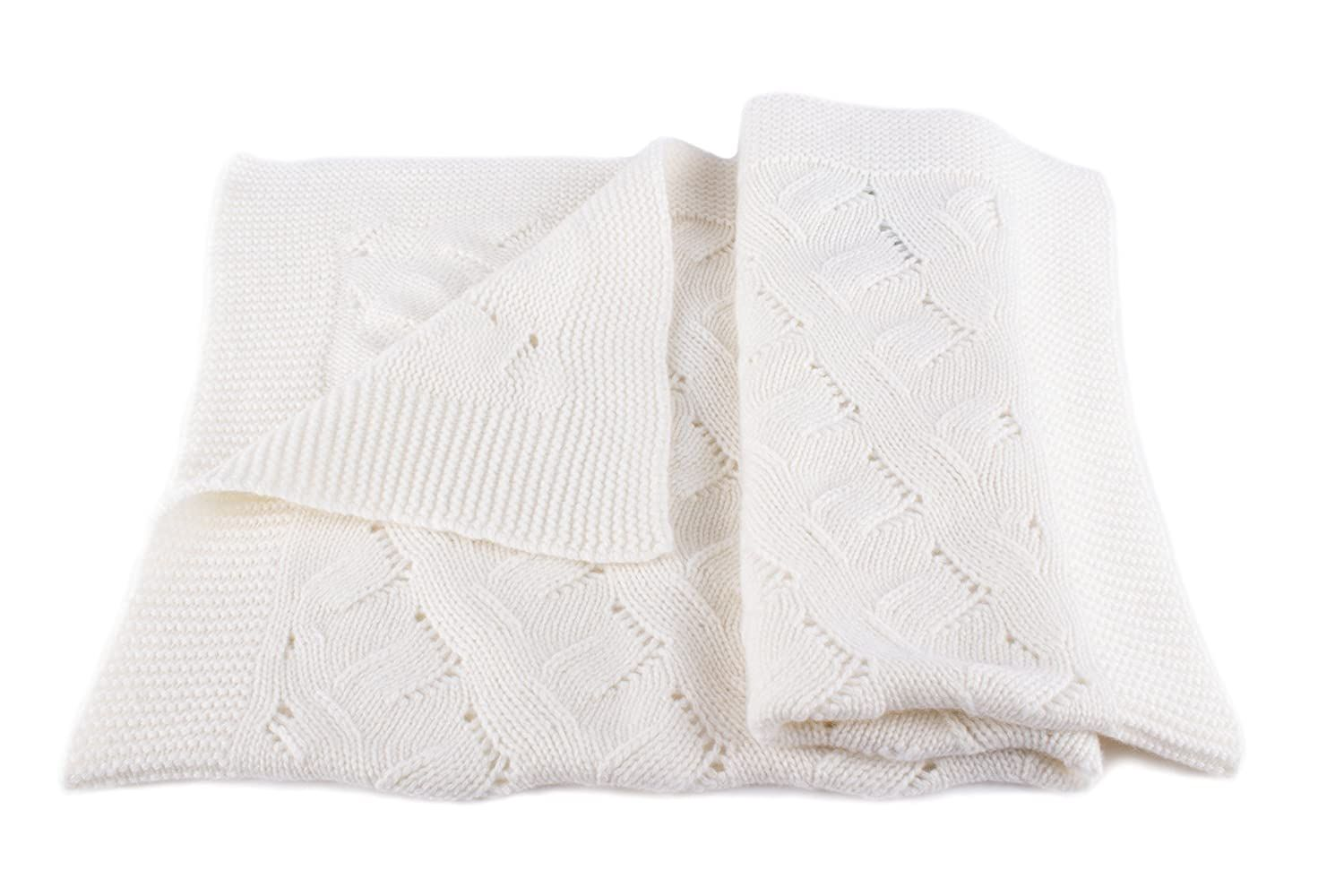 Unisex Luxury 100 Cashmere Baby Blanket White Hand Made In Scotland By Love Cashmere Rr En 2020 Couverture Bebe