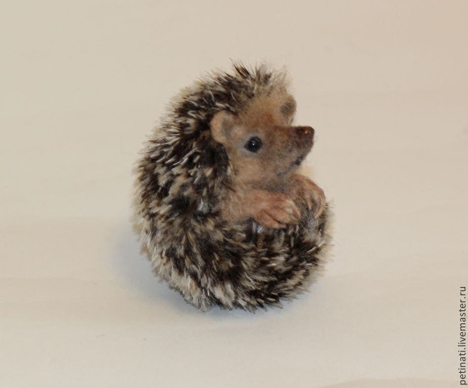 felted baby hedgehog Yeni #feltedwoolanimals