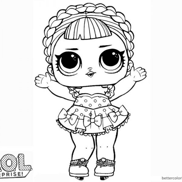 lol mermaid coloring pages | LOL Surprise Doll Coloring Pages Ice Sk8er | Cool coloring ...