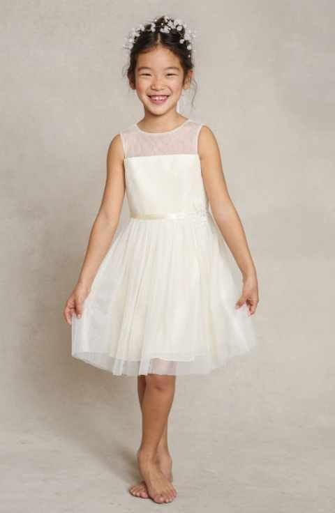 d5293908e Jenny Yoo 'Zoe' Floral Appliqué Tulle Dress (Toddler, Little Girls & Big  Girls)