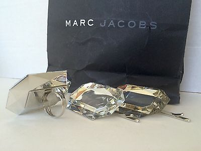 Pre-Owned Marc Jacobs Silver Tone Hair Accents and Ring
