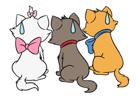 Marie from the Aristocats is here in a new sticker set. Use her cute catty poses and ladylike demeanor to give an adorably sophisticated air to your chats.