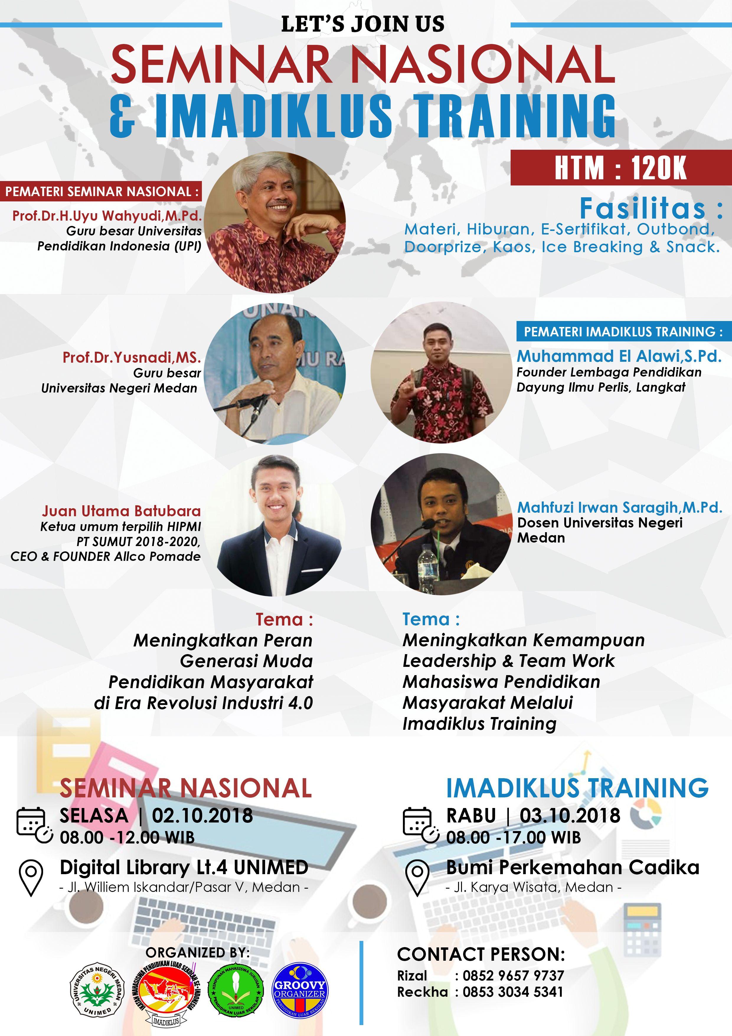 National Seminar Poster Unimed Pendidikan Guru Desain