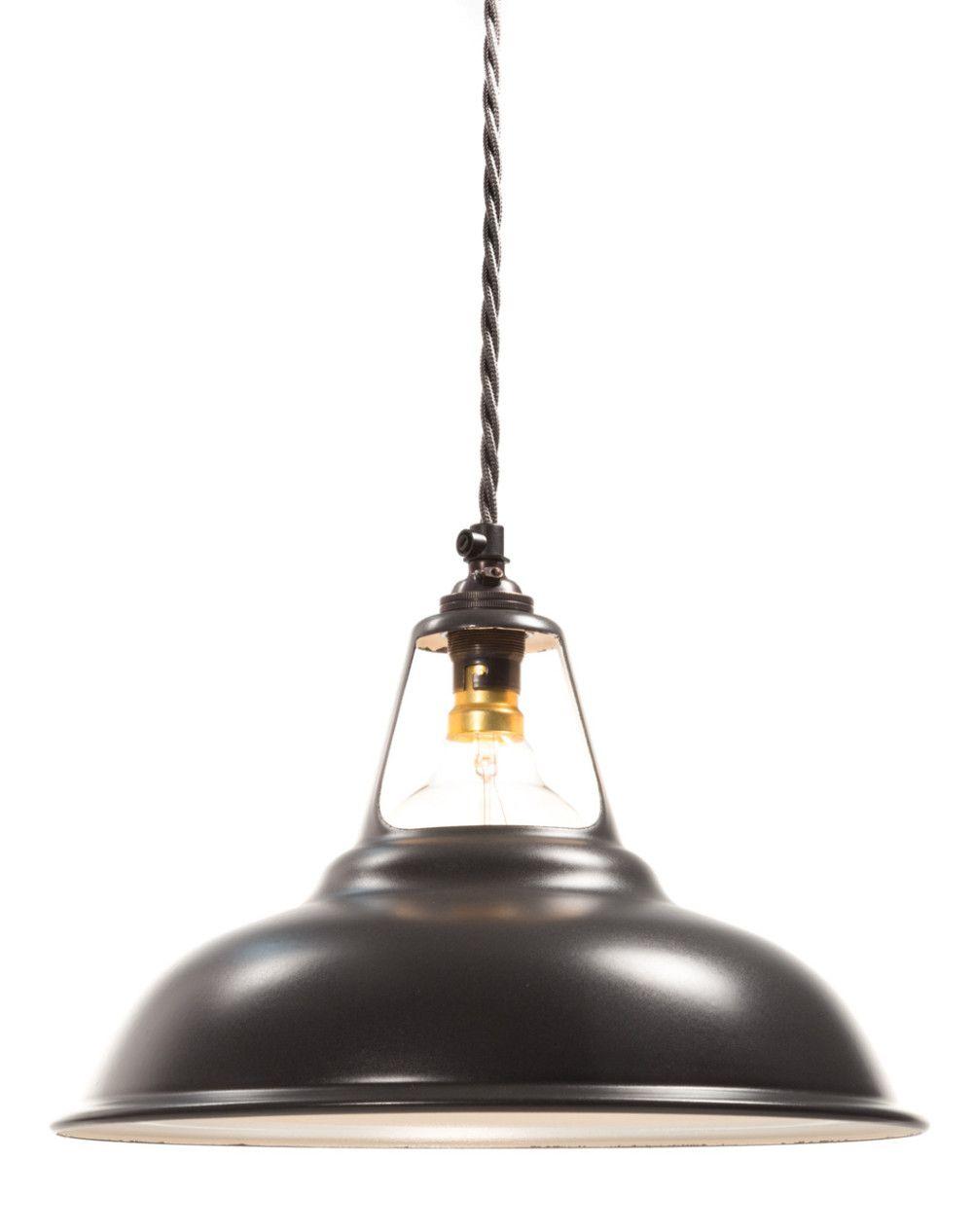 Matt Black Enamel Coolicon Lamp Shade 280mm B22 Ceiling