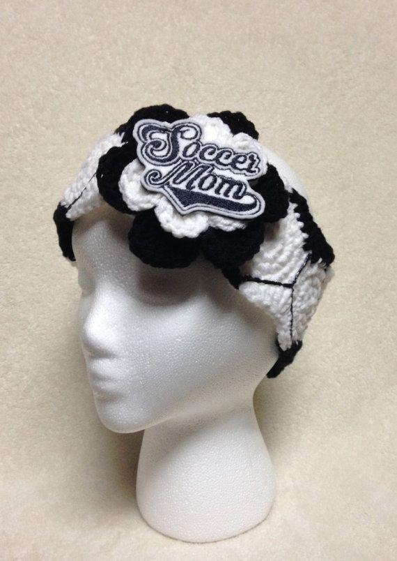 Crochet Soccer Mom Headband/Earwarmer by CrochetingTreasures ...