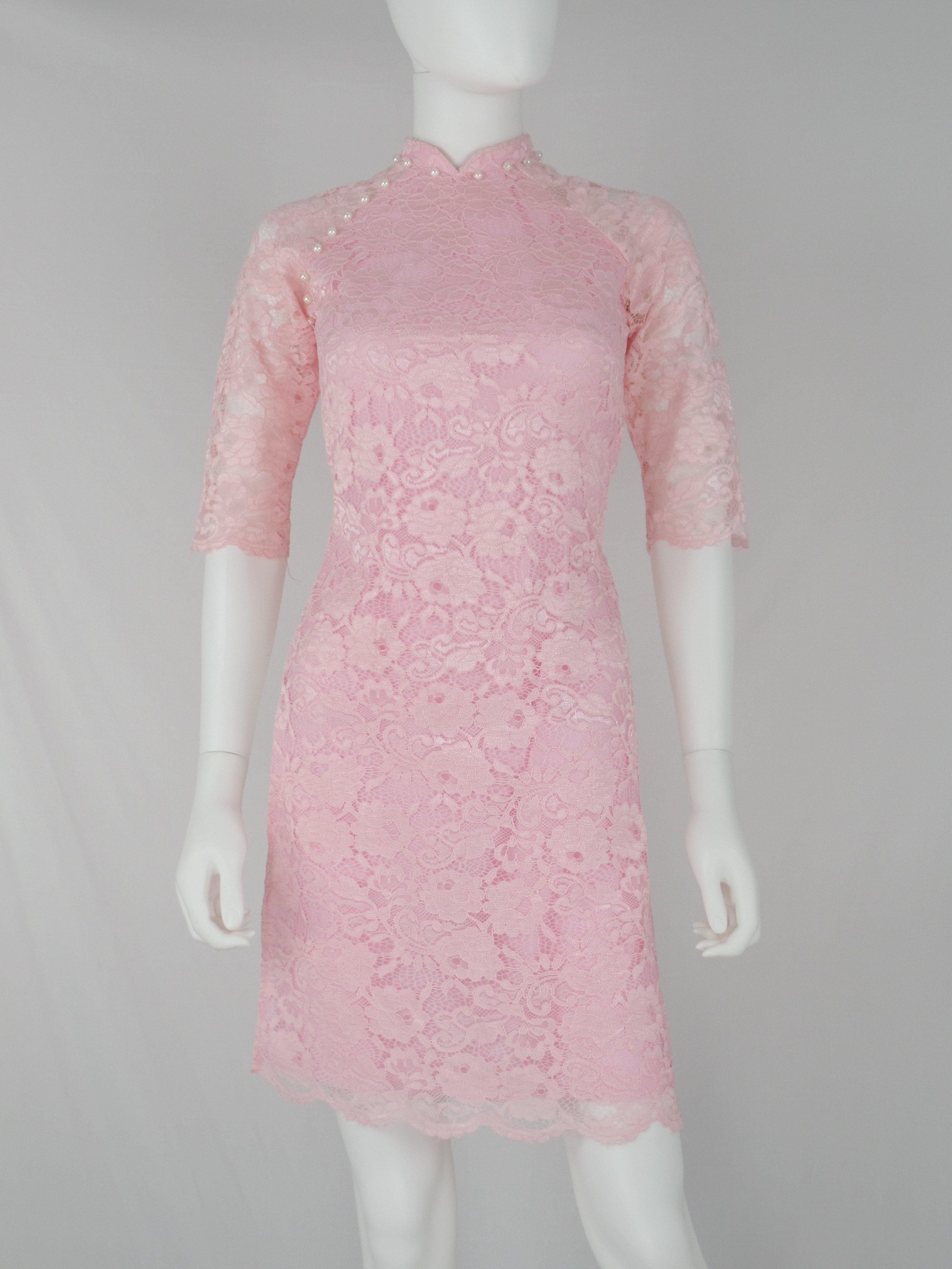 Ao dai ren vang | Vietnamese Long Dresses - Áo Dài | Pinterest