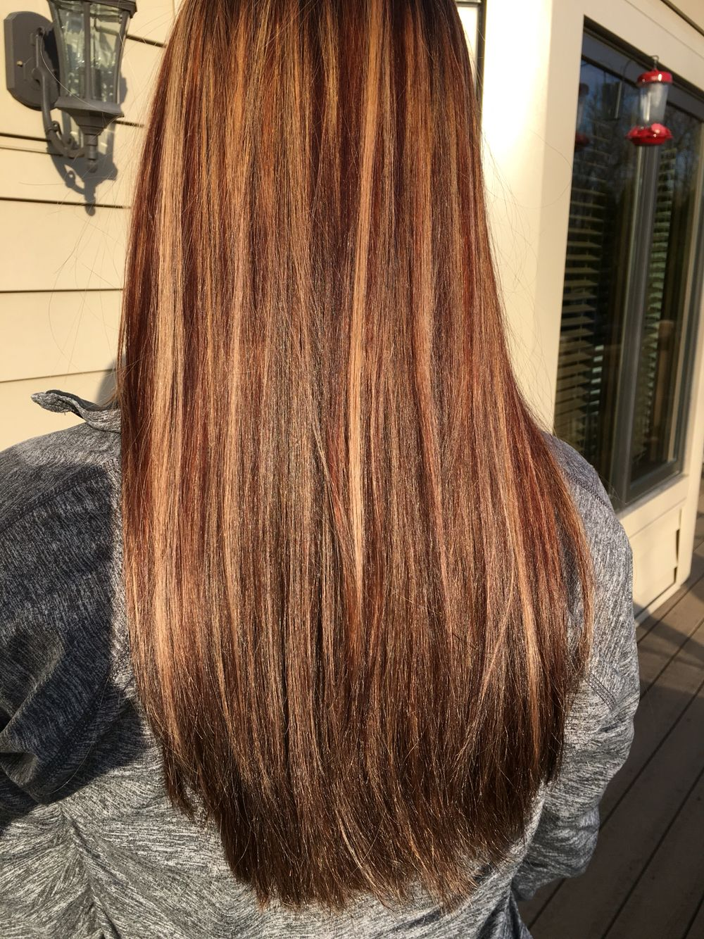 Copper Warm Brown And A Few Caramel Highlights To Start Off The New Year Right Perfect For Winter Hair Brunette Hair Color Hair Styles