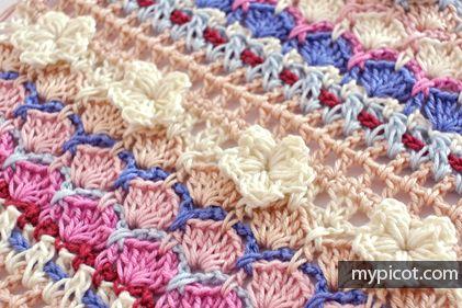 crochelinhasagulhas: Ponto de crochê (flores)