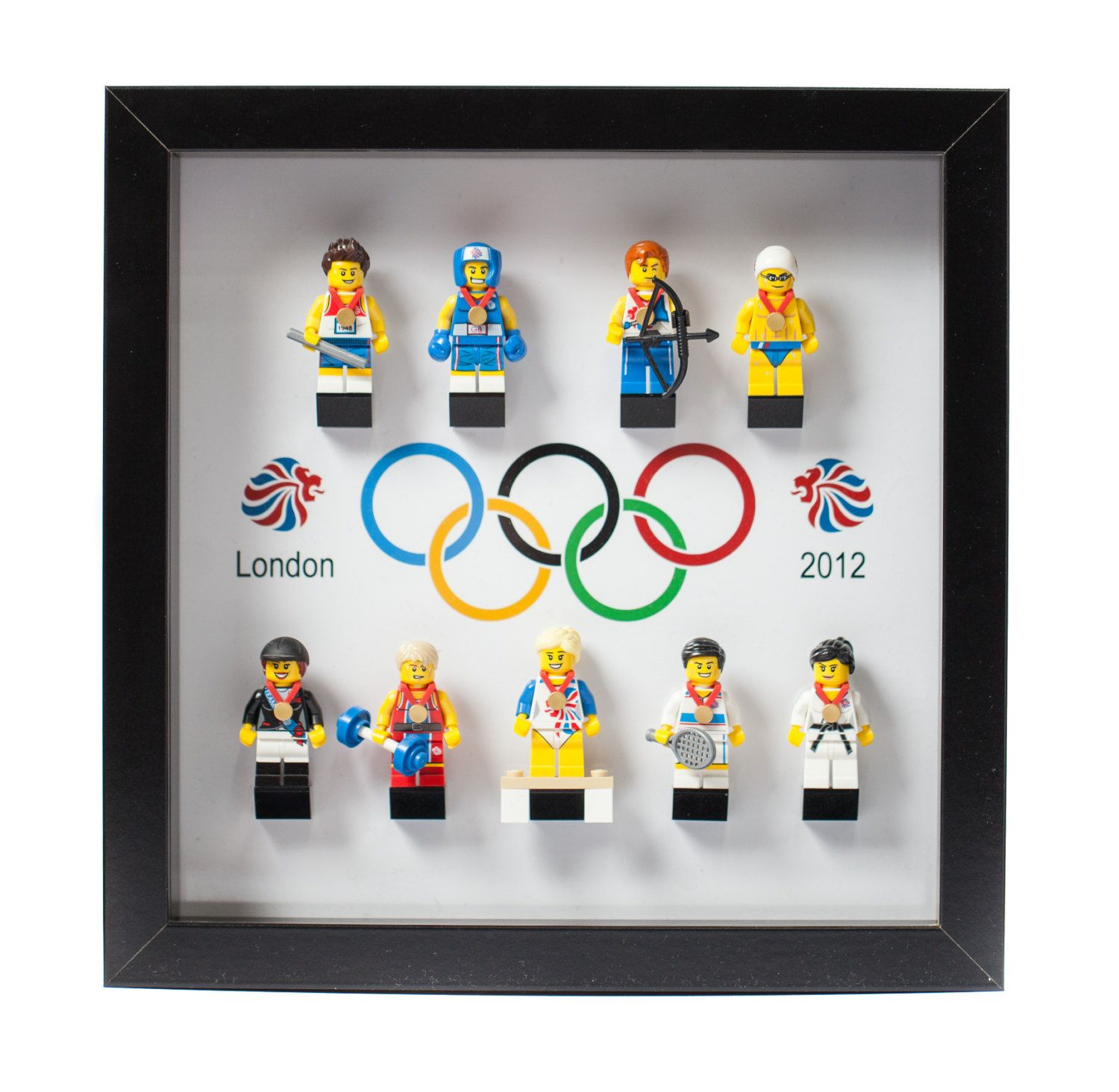 Lego Frame Display Mount Acrylic Insert OLYMPIC by LaserFrame | LEGO ...