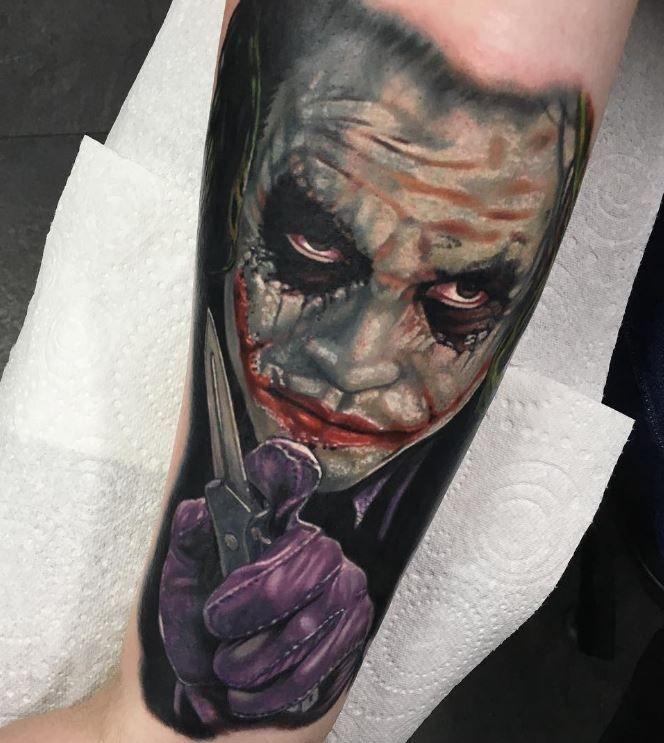 66022c6866d87 The Joker Tattoo | Awesome Tattoos | Tattoos, Hero tattoo, Comic tattoo