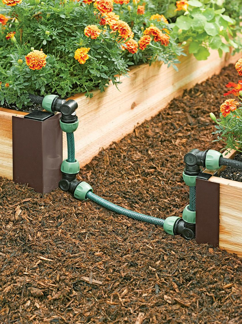 Raised Bed Soaker Hose Connector Kit Snip N Drip Gardeners Com