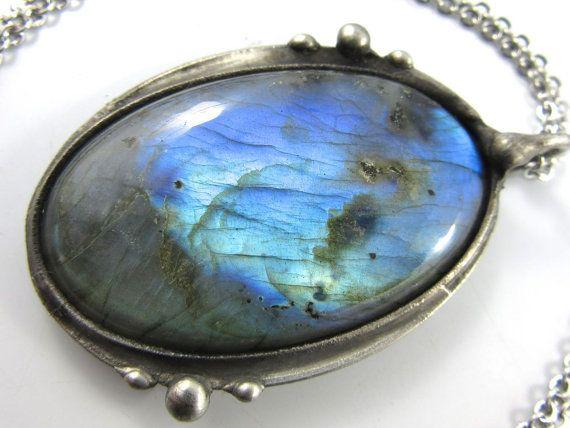 ursa major  large blue labradorite pendant by callistojewelry